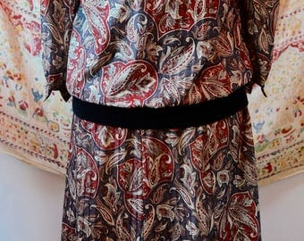 1970s Vintage Paisley Dress by The Jones Girl