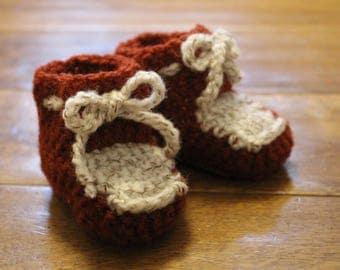 Handmade Baby Booties 0-3 Months