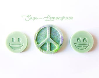 Sage & Lemongrass Wax Melts (3.1 Oz.) - Wax Melts - Hand Poured Wax - Wax - Handmade Wax Melts - Sage - Lemon - Wax Tarts - Glitter Wax