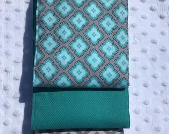 Gender Neutral Burp Cloth - Set of 3 - Teal Times