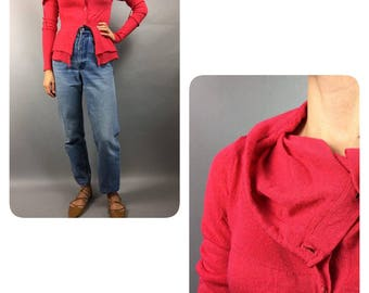 Armani Women Cardigan Red Vintage 90s Sweater Vintage Armani Red Vintage Cardigan Armani Cardigan Red Sweater 90s Cardigan Vintage Sweater