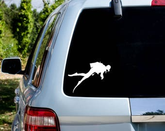 Scuba Diver Vinyl Decal - Donation With Purchase - **Choose your donation organization by adding a note at checkout**