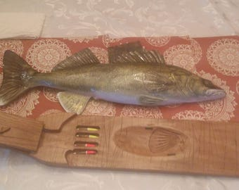 HAND MADE Walleye cribbage board