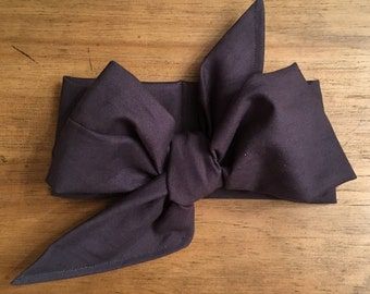 Gray Cotton Headwrap