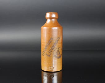 1900's Gilmour's Liverpool Stoneware Beer Bottle - Antique