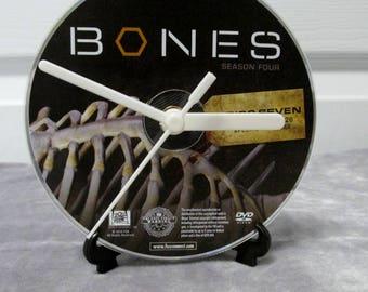 Bones DVD Clock Upcycled TV Show