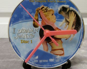 I Dream of Jeannie DVD Clock Upcycled TV Show