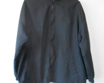 Sport Essentials men's wind breaker black lining/men's black wind breaker jacket/lining/size 2XL