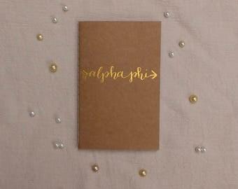 Alpha Phi Gold Arrow Journal