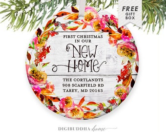 First Christmas in our New Home Ornament, First Christmas in Our Home Christmas Ornament Personalized New Home Gift for Wife, Our First Home