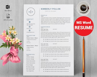 Resume template, Professional resume template instant download, resume template word, CV, CV template, resume template free