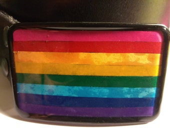 8 Color Gay Pride Buckle