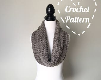 Crochet Pattern - Chunky Cowl Circular Infinity Scarf - Instant PDF Download