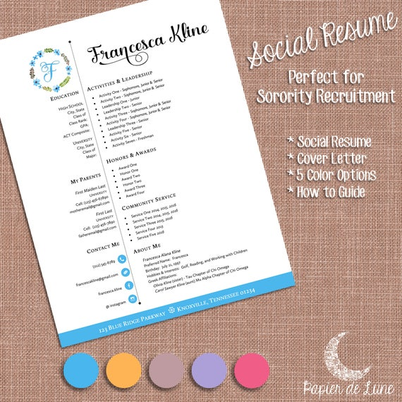 fk social resume cover letter templates sorority. Black Bedroom Furniture Sets. Home Design Ideas