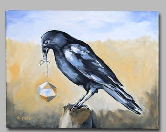 """Collector of Bright Things - Giclee from Acrylic Painting 11"""" x 14"""""""