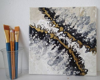 Into the Jaws of Desire -  10 x 10 inch acrylic painting on stretched canvas