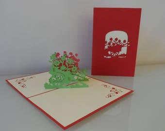 Wheelbarrow Pop up Card