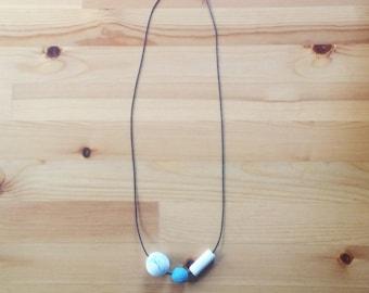 Minimalist Polymer Clay Beaded Necklace
