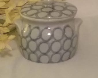 Ceramic crock with lid made in Western Germany