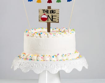 The Big One Cake Topper | Fishing First Birthday Cake Topper
