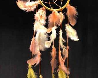 Yellow and orange dream catcher