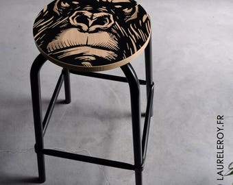 Black Gorilla bar stool