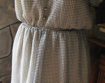 B&W Gingham Lined Country Dress