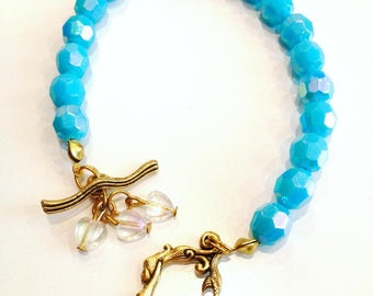 Mermaid and wave bracelet