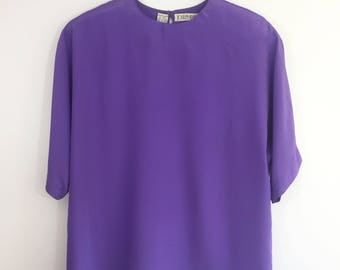 "90s Purple Blouse - ""Josephine Chaus"""