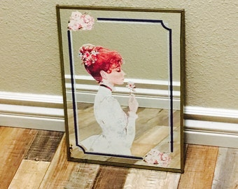 Antique Mirror; Small Mirror; Vintage Mirror