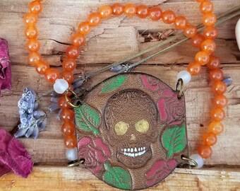 Floral.Skull.Bracelet