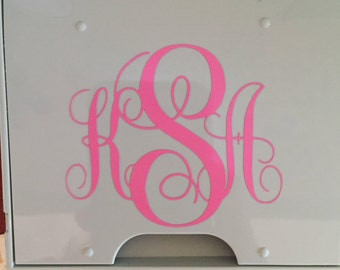 Monogram Vinyl Decal Sticker