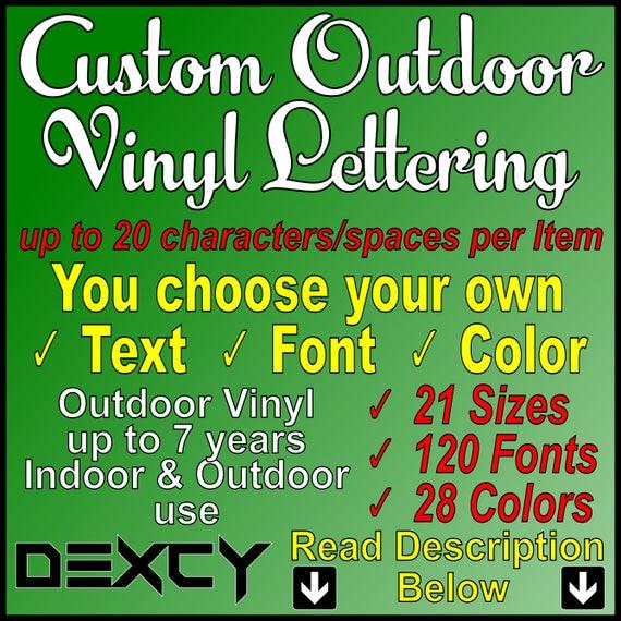 Custom Vinyl Lettering Vinyl Decal Vinyl Stickers Letters - Vinyl letter stickers for boats