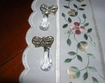 Vintage crystal post earrings