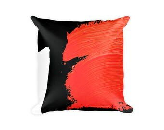 Throw Pillow Red and Black