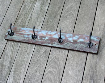 Wall Hook boat timber wall hanger 4 hooks Wood used for boat