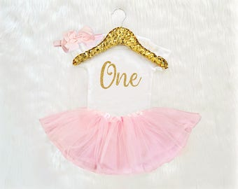 First Birthday Outfit Girl, Girls first birthday outfit, Pink Gold first Birthday Outfit, 1st Birthday Outfit, Birthday Dress, Pink Tutu
