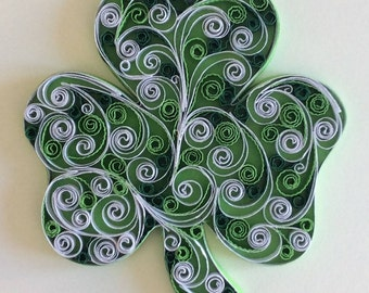 Shamrock White and Green - Original art piece