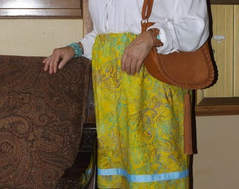 Ceremonial Ribbon Skirt Yellow Floral