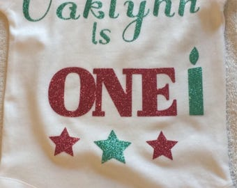 Personalized first birthday onesies. Girl or boy. 1st birthday outfit