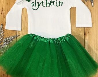 Harry Potter 'Slytherin' onesie, harry potter, harry potter onesie, slytherin, baby girl outfit, gryffindor, baby onesie, slytherin baby