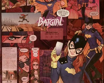 DC Batgirl Comic Collage