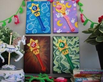 Sailor Moon Sceptre 8bit paintings