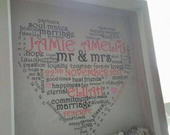 Wedding/Anniversary/Valentines/Love box frame