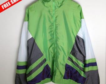 Windbreaker vintage large XL 90s windbreaker Vintage windbreaker Retro windbreaker Vintage jacket men Windbreaker women 90s jacket Oversize