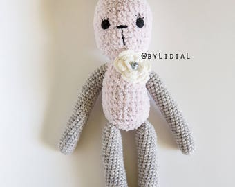 Handmade Crochet Bunny Rabbit Stuffed Animal Toy