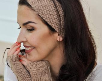 Hand knit gloves Beige gloves womens Winter gloves Women wool gloves Winter women gloves Warm mittens Knit mittens gloves Wool mittens women