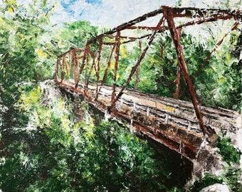 Hifner, Kentucky acrylic painting