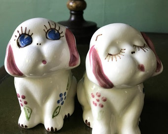 Adorable Ceramic Puppies by Block Pottery California