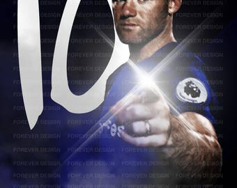 Wayne Rooney A3 poster own design